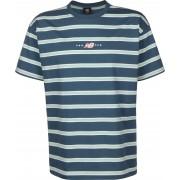 Balance New Balance MT01514 Herren T-Shirt blau gestreift Gr. L
