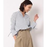【トールサイズ】袖カフスリボンストライプシャツ
