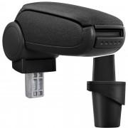 [pro.tec]® Lakťová opierka pre VW Touran / VW Caddy (2K) - s odkladacím priestorom - tkanina - čierna