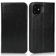Apple Crazy Horse Skin äkta läderplånbok för iPhone 11 6,1 tum