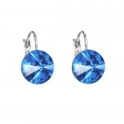 Cercei cu cristale Swarovski FaBOS, Sapphire 7440-4526-06