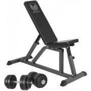 Gorilla Sports Gyronetics Fitnessbank Incl. 30 kg Dumbellset Kunststof