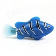 Flash ROBO flash electrico Pet Fish juguete - Azul + Negro + blanco
