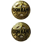 """United States Military US Armed Forces Marines OOH RAH! """"It's A Marine Thing"""" - Good Luck Double Sided Collectible Challenge Pewter Coin"""
