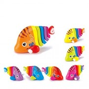 Zuffon Key Operated Wind up Stalking Toy: Mini Robotic Fish in Candy Colours. Pack of 1