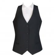 Events Ladies Black Waistcoat - Size XL Size: XL