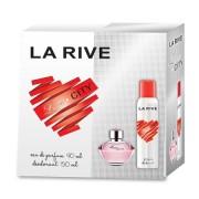 La Rive Love City - zestaw, woda perfumowana, dezodorant