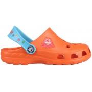 Papuci copii coqui little frog portocaliu/albastru