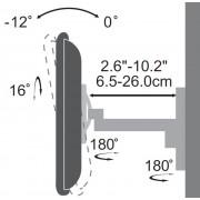 """Stand, SBOX LCD-2901, Стойка за LCD монитор, за стена, 19-37"""", до 25 кг, с двойно рамо"""