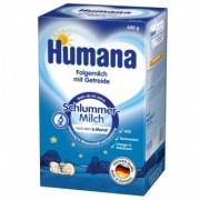 Set Lapte praf de la 6 luni de noapte cu cereale Humana 600 g