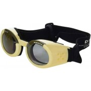 Doggles Hondenzonnebril Chrome - beige met rookkleurige glazen - Size: Medium
