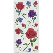 GGSELL YiMei Waterproof tattoo sticker black flowers and flower / butterfly
