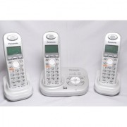 DECT6.0 Panasonic Cordless Phone KX-TG6321 3 Pcs Combo 1 line 3 extension EPABX (Refurbished)