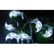 Karácsonyi hold beltéri füzér fára, 40 db, hideg fehér. Folyamatosan világít! Life Light led