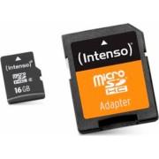 Card de Memorie Micro SD cu Adaptor INTENSO 3413470 16 GB Clasa 10