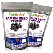 NutrActive Jamun Seed Powder for Weight Loss - 100 gm (Pack of 2)