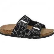 Graceland Zwart/zilver sandaal leren voetbed Graceland maat 37