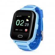 Ceas Inteligent pentru copii WONLEX KT02 3G Albastru cu GPS rezistent la apa localizare WiFI si monitorizare spion