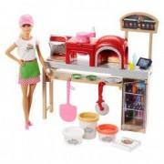 Set Barbie Pizza Chef bucatari accesorii