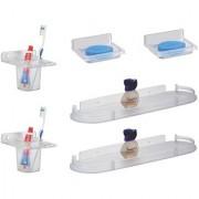 Kamal Soap Dish Glass Holder Straight Shelf (Set Of 2)