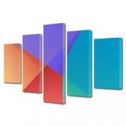 Tablou Canvas Premium Abstract Multicolor Patru Culori Suprapuse Decoratiuni Moderne pentru Casa 120 x 225 cm