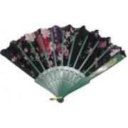 ShopeGift Foldable Floral Print Multicolor Hand Fan(Pack of 1)