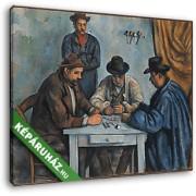 Paul Cézanne: Kártyázók (4 férfi) (30x25 cm, Vászonkép )