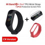 mi banda 4 inteligente mi banda 3 pantalla de Color pulsera de corazón de música Fitness Bluetooth
