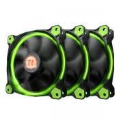 Thermaltake FAN, RING 12 LED GREEN 3 PACK | CL-F055-PL12GR-A