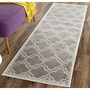 Safavieh AMT412C-211 Carpet Runner, Color Grey/Light Grey, 335.28 x 68.58 cm, Pack of/Paquete de 1