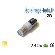 Ampoule LED E14 2W SMD 3014 Blanc chaud 230V