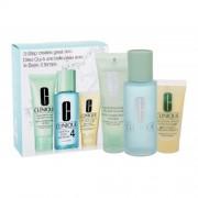 Clinique 3-Step Skin Care 4 set cadou Lotiune tonica Clarifying Lotion 4 100 ml + Sapun lichid Facial Soap 50 ml + Emulsie gel hidratanta DDMgel 30 ml