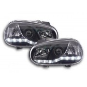 FK-Automotive faro luci di marcia diurna Daylight VW Golf 4 anno di costr. 97'-03 nero