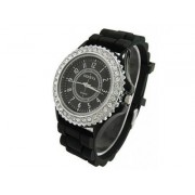 silikonové hodinky geneva Barva:: Černá