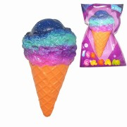 Kiibru Squishy Ice Cream Galaxy Color Licensed Slow Rising Original Packaging Collection Gift Decor Toy