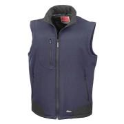 Result Mens Softshell Bodywarmer Breathable Weatherproof Jacket Bla...
