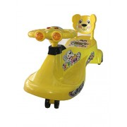 Panda Kartoon Swing Car - Yellow