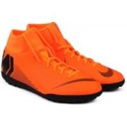 Nike SUPERFLY 6 CLUB TF Football Shoes For Men(Black, Orange)