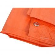 Merkloos Oranje afdekzeil / dekkleed 3 x 4 m