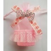 Marturii cosulet Baby roz 12.5