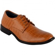 Goosebird Stylish Synthetic Leather Office Collage Lace-Up Formal Dress Shoe for Men