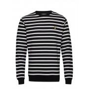 Scott Breton Stripe Sweatshirt Sweat-shirt Tröja Svart Lyle & Scott