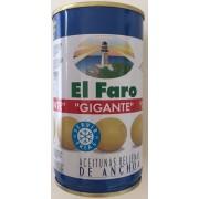 Aceitunas rellenas gigantes 150g. El Faro.