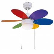 Deckenventilator RAINBOW COLOR 76 cm mit Licht