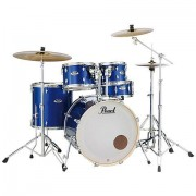 "Pearl ""Export 22"""" High Voltage Blue Complete Drumset"""