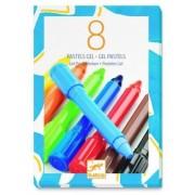 Zestaw żelowych pasteli kolory klasyczne, kredki pastelowe DJECO DJ08812