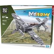 Joc constructie, My Army, Avion militar cu elice, 87 piese Blocki