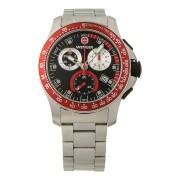 【57%OFF】Battalion Chrono ラウンド クロノグラフ デイト ウォッチ ケースカラー:シルバー ベルトカラー:シルバー ファッション > 腕時計~~メンズ 腕時計