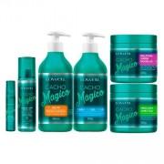Kit Completo Cacho Mágico Lowell: Creme + Fluído + Gelatina + Oil + Máscara + Shampoo