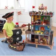 Игровой набор Пиратский форт (крепость, корабль, пираты, аксессуары)